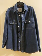 ORVIS Denim Shirt Mens Large Heavy Duty Fishing