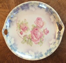 """Made In Germany Rose Floral Print 9"""" Plate With Handles"""