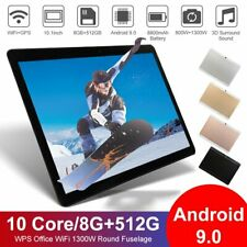 "10.1"" inch WIFI HD Tablet Android 9.0 Pad 8+512GB SIM GPS Tablet Dual Camera US"