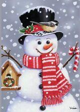 "New listing Briarwood Lane garden flag Snowman Birdhouse 12.5"" x 18"" Nip Free Shipping"