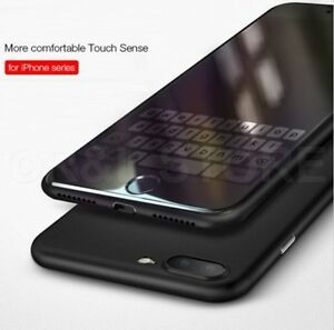 COVER CUSTODIA per iPhone 6s 7 8 Plus ULTRA SOTTILE OPACO SEMI TRASPARENTE SLIM