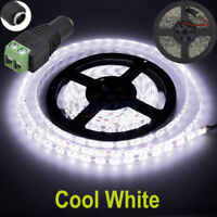 16ft Cool White 5630 Super Bright Waterproof LED Strip Light DC12V 5A W/3M Tape