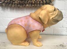 Pomme-pidou Englische Bulldogge Handarbeit Deko - Bully SPYKE pink