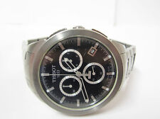 Tissot Mens Chronograph Black Dial Titanium Watch - T0694174405100