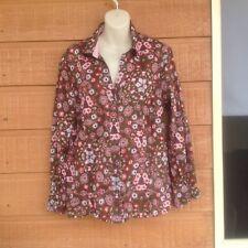 Regatta Floral Button Up Shirt - Size 16 brown And Pink