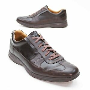 Cole Haan Men's 13 M Elton Lace-to-Toe Brown Leather Sneakers Oxfords Comfort