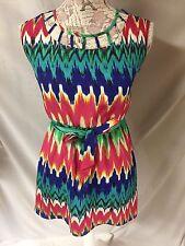 My Michelle Juniors Chevron Sleeveless Mini Dress Size 10 M