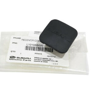 """Subaru Trailer Hitch Cover Black Rubber 1-1/4"""" Fits All OEM NEW L1010SS020"""