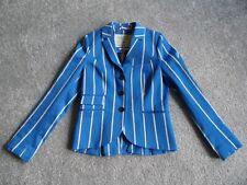 LADIES JACK WILLS BLAZER STRIPED JACKET PREPPY FITTED OFFICE UK 12 WINTER COAT