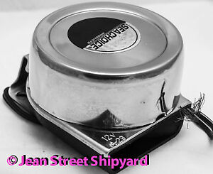 SeaDog 431110-1 Single Mini Compact Boat Horn Stainless 3 Amps 12V Marine Boat