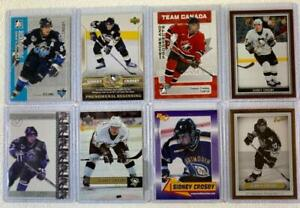 PITTSBURH PENGUINS SIDNEY CROSBY - AN EIGHT CARD LOT ROOKIES & MORE