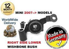 Para BMW Mini R59 Cobre S Diesel 2011 -- & Gt Nuevo Lado Derecho Inferior Wishbone Bush
