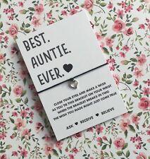 Best Auntie Wish String! Auntie Wish Bracelet! Auntie Gift! BUY 5 GET 1 FREE!!