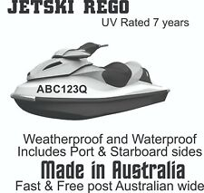 JETSKI Registration set 100mm High DECALS/ STICKERS X2 SETS