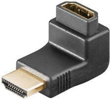 HDMI/HDMI ángulo adaptador HDMI a-enchufe > HDMI a-enchufe hembra oro contactos
