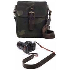 ONA Bond Street Camouflage Camera Bag (Waxed Canvas) with Presidio Leather Strap