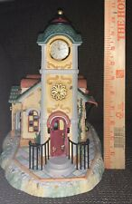 (New)Partylite Old World Village Clock Tower Tealight Candle Holder #P7887