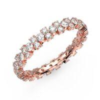 RRP £999 1.00 CT Round Diamond Garland Eternity Ring , UK Hallmarked Rose Gold