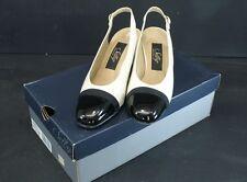 """SELBY Comfort Flex Beige/Black Heels Spectator Pumps Sling 2.5"""" Heel Sz 7.5 A"""