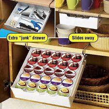 Universal Drawer K-Cup Coffee Pod Tea Bag Under Mount Shelf Rack Kitchen Storage