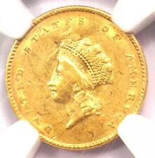 1854 Type 2 Indian Gold Dollar (G$1 Coin) - NGC AU Details - Rare Type Two!