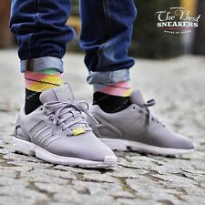 ADIDAS ZX FLUX LOW SNEAKERS MEN SHOES GREY/WHITE M19838 SIZE 10 NEW