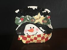 Snowman Candy Tray Lead Free