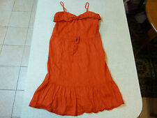 Women's BARDOT Size 8 AU Mini Dress Red Frills Lined ExCon Ladies Short Bow