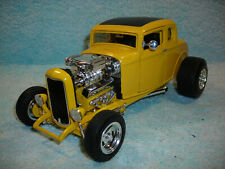 1/18 SCALE DIECAST 1932 FORD CUSTOM 2DR. HOT ROD COUPE IN YELLOW BY ERTL NO BOX.
