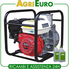 Motopompa irrigazione a scoppio motore Honda GX 160 benzina, pompa autoadescante