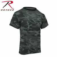 Rothco Camo T-Shirts, Black Camo