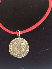 "Denarius Vespa Roman Coin WC27 Made From Fine Pewter On 18"" Red Cord Necklace"
