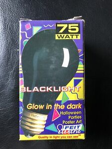 Halloween Black Light Bulb 75 Watt 130 Volt Pack of 3 Feit Electric