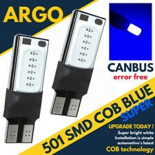 501 Car Bulbs Led Error Free Canbus Cob Smd Cool Blue Ice W5W T10 Side Light 12v