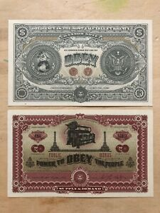 """Bank Note Shepard Fairey OBEY """"Two Sides of Capitalism"""" Money Dollar Bill RARE"""