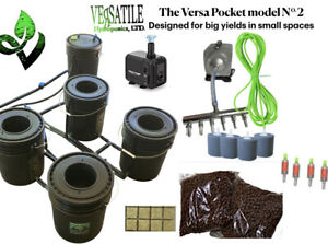 RDWC System. Versatile Hydroponics, LTD. For Compact Grow Area. Set Up In Mins.
