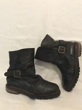 H By Hudson Black Mid Calf Leather Boots Size 39