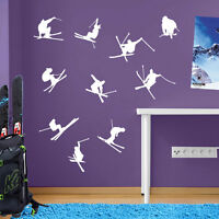 Skiing Ski Snow Jumps Tricks Sports Matt Wall & Window Stickers Decal Kids A12