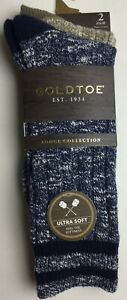 Mens Gold toe Lodge Collection Socks 6-12 1/2 NWT Polyester Blend