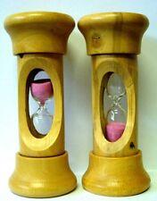 lot de 2 Sablier bois de buis hourglass boxwood sandglass buxus scientifique