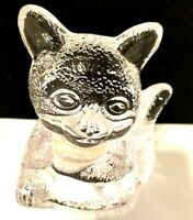 Clear Glass Kitty Cat Votive Tealight Candle Holder Partlite