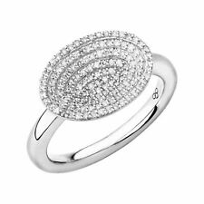 LINKS OF LONDON Ladies Diamond Essentials 925 Concave Pave Ring P NEW RRP610