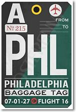 PHL - Philadelphia Airport Baggage Tag - NEW Travel POSTER (tr487)