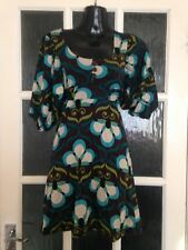 Miss Selfridge Jersey Funky Dress Size 8, 1/2 Sleeves Vgc