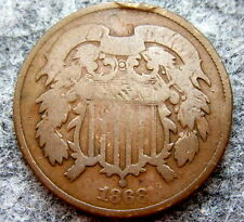 UNITED STATES 1868 2 CENTS, UNION SHIELD