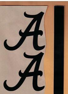 Alabama Crimson Tide FULL SIZE FOOTBALL HELMET BLACK DECALS WITH STRIPE