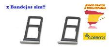 2x Bandeja Tarjeta Sim y Micro Sd para Samsung Galaxy S7 Edge G935F Plateado