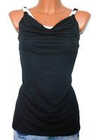 COLLEENS Top Gr. 40 42 44 46 schwarz Jersey 2in1 Look Damen NEU  - T16