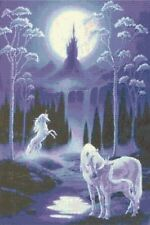 MOONLIT UNICORNS - COUNTED CROSS STITCH CHART