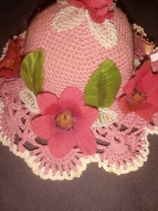 Vintage Floral And Lace Tomato Style Pin Cushion